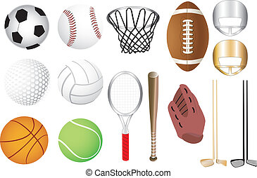 Sports Icons - Vector Illustration of 15 sports icons...