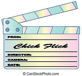Chick Flick Pastels Clapperboard - A typical movie...