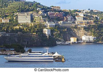 beautiful scenic of sorrento coastal mediterranean sea...