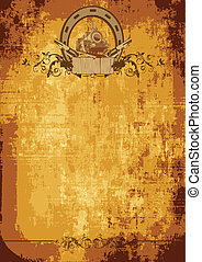 Wild west poster - Vintage background on a theme a wild west