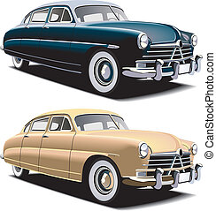old-fashioned big car - Vectorial image of old-fasioned big...