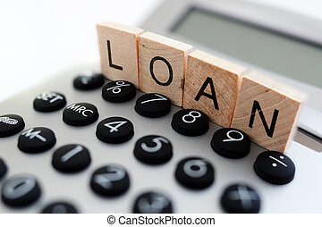 Calculating loan repayments - Calculator with the word loan...