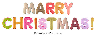 Marry christmas. Words isolated on white background. - Marry...