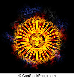 Fiery sun of may. - Sun of may, from the argentinian flag,...