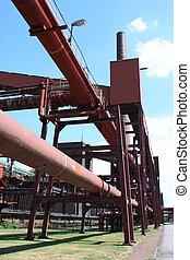 carbón, mina, industrial, Complejo