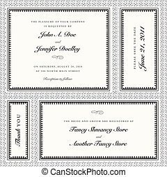 Vector Invitation Frame Set with Sample Text - Set of vector...