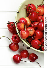 Sweet Maraschino Cherries - Heap of Fresh Ripe Sweet...