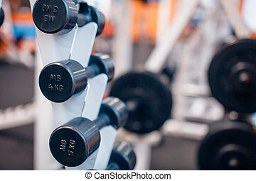 many dumbbells are at stand the gym - many dumbbells are at...