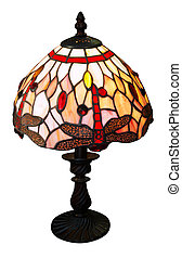 Art Deco Lamp isolated with clipping path