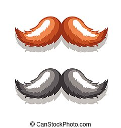 VectorImageMustacheBlackBrown