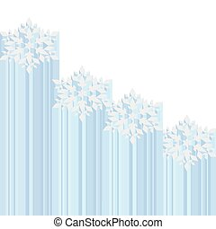 Snowflake abstract vector background Christmas design