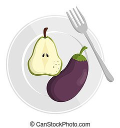 healthy food menu isolated icon