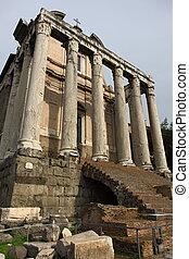 Forum Romanum - Ruins at Forum Romanum