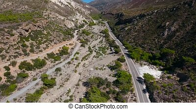 road in mountains at crete Greece - road in big mountains at...