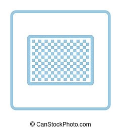 Icon of photo camera sensor. Blue frame design. Vector...