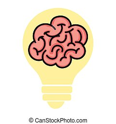 brain storm human organ icon