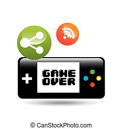 video game connection share icon design vector illustration...