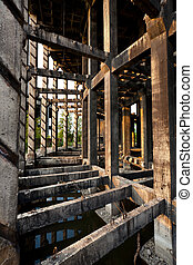 Abandoned industrial facility