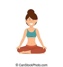 Woman practicing yoga icon