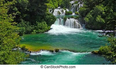 National Park Waterfalls Krka in Dalmatia Croatia