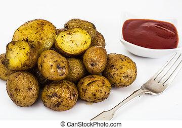 Fried Potatoes Studio Photo