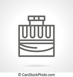 Fashionable cologne simple line vector icon - Glass...