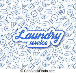 Laundry service illustration on white background