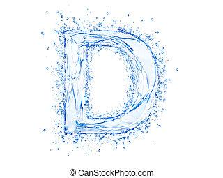 Water splash letter D