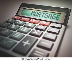Mortgage Calculator - Solar calculator with the word...