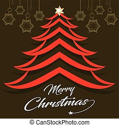 abstract chritstmas tree design with text style