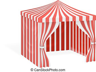 Carnival tent for outdoor party event vector illustration