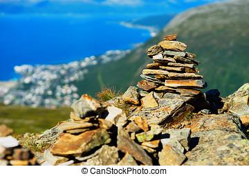 Norway dzen yoga stones background hd