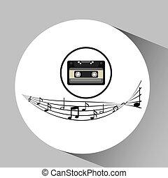 music cassette vintage background desgin vector illustration...