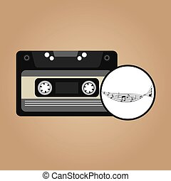 music cassette vintage background desgin vector illustration...