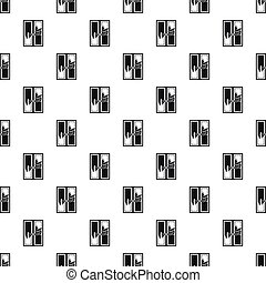 Window cleaning pattern, simple style