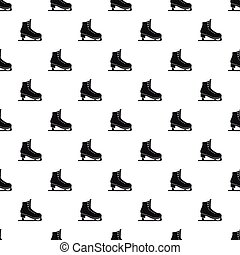 Skates pattern, simple style