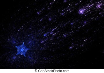 Shooting Stars in the night before Christmas - Falling stars...