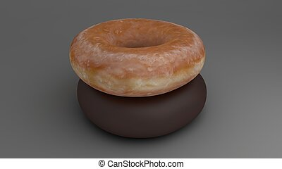 stacked donut