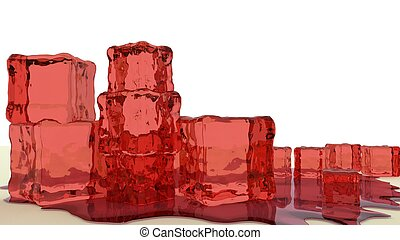 red jello cubes 3d render - stack of red jello cubes 3d...