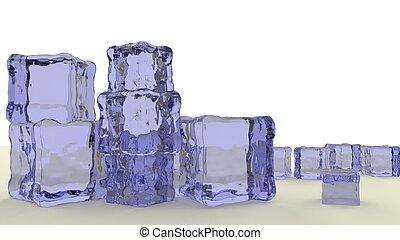 blue jello cubes 3d render - stack of blue jello cubes 3d...