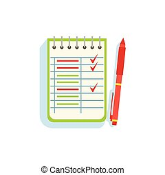 List Of Exercises Or Sportive Goals With Some Of Lines Crossed Out Vector Illustration From The Fitness Essentials Collection