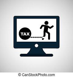 business financial burden taxes icon vector illustration eps...