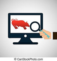 exchange market bull icon design vector illustration eps 10