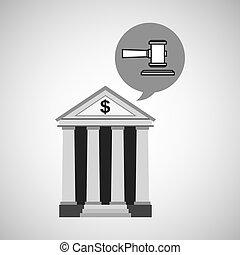 bank concept safe money justice icon