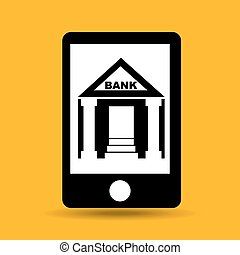 concept saving money bank building vector illustration eps...