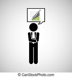 concept stock exchange market wall street statistics icon...