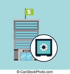 bank concept service safe box money