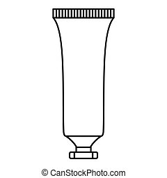 Cosmetic tube icon, outline style - Cosmetic tube icon....