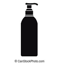 Cosmetic bottle icon, simple style