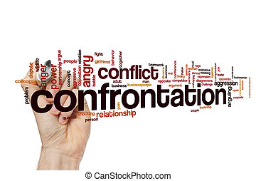 Confrontation word cloud concept
